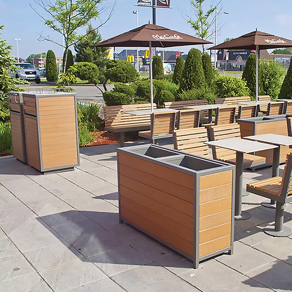 Exterior Restaurant Installation - Custom Dining Furniture