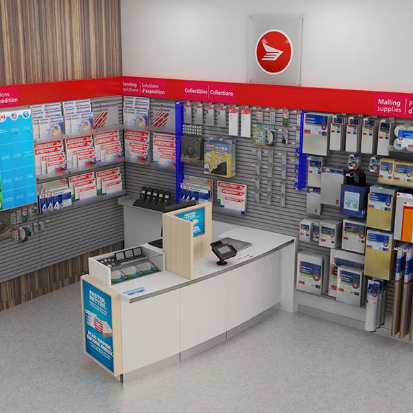 Canada Post Store Installation - Custom Retail Furniture