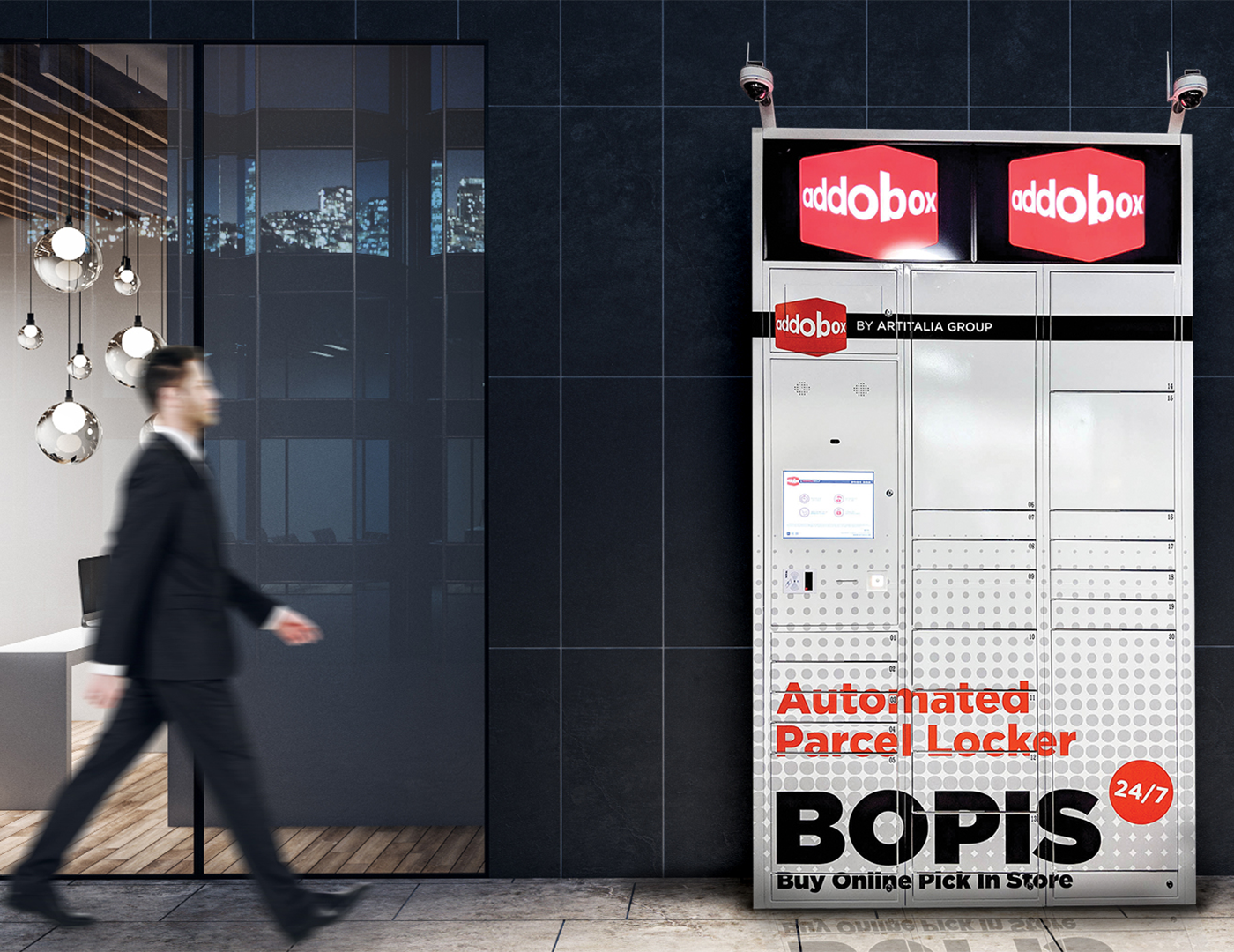Addobox Smart Locker Solution for mail and parcel