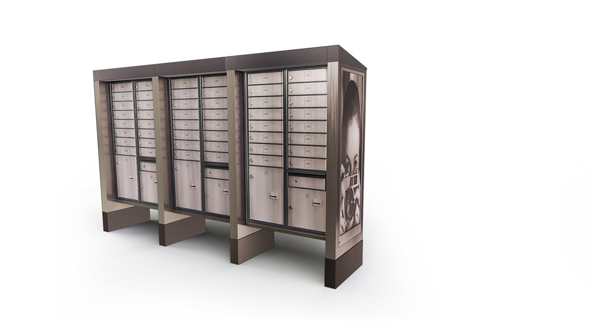 Community Postal Boxes Custom Parcel Locker for Mail & Parcel