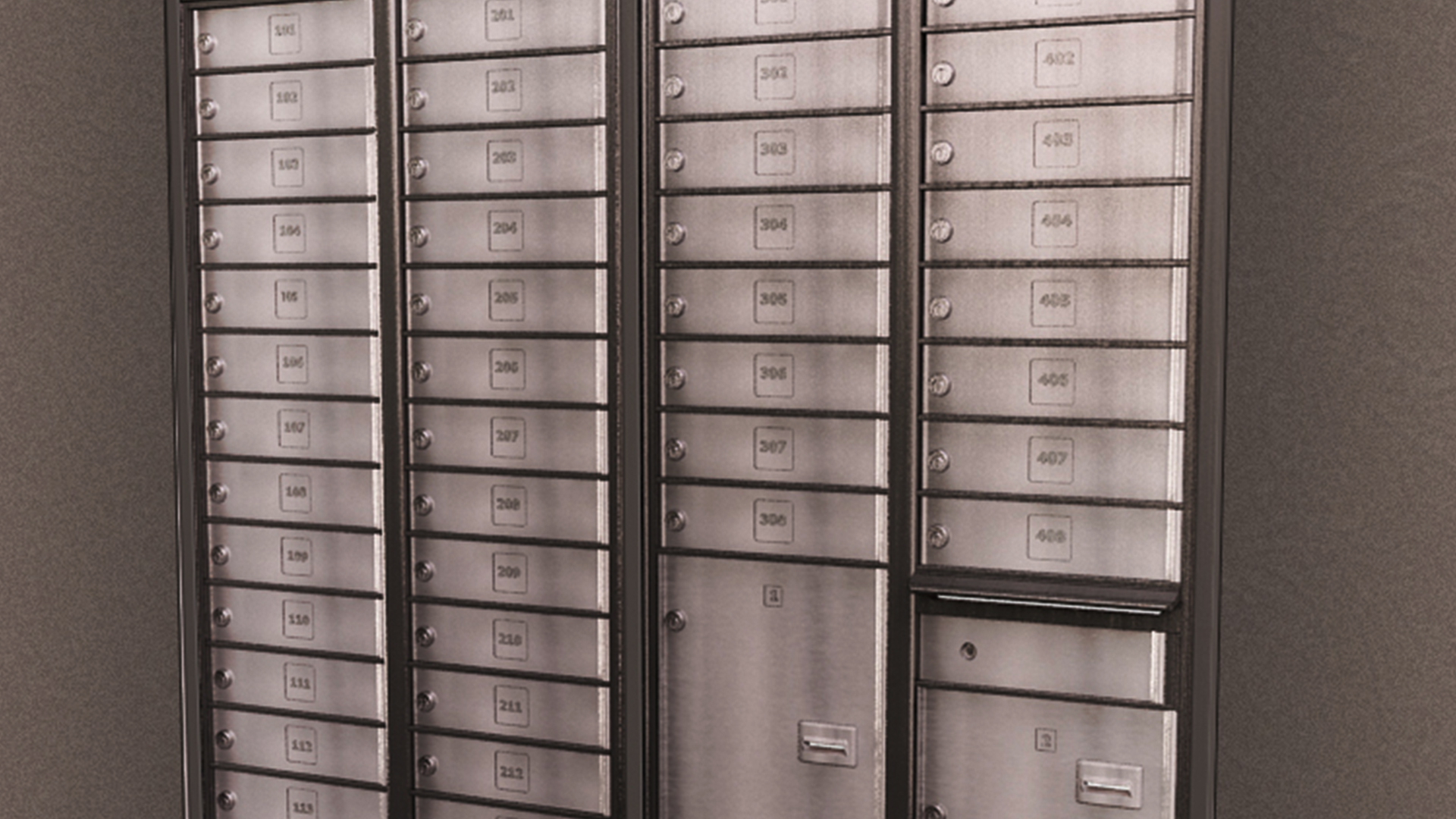 Custom Made Secure Postal Lobby Boxes for Mail & Parcel