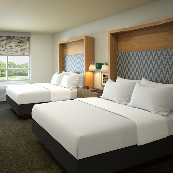 Holiday Inn Hotel Installation - Custom Hospitality Furniture