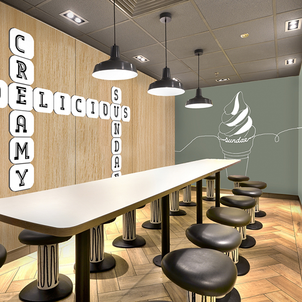 McDonald's Alphabet Restaurant Installation - Custom Hospitality Furniture