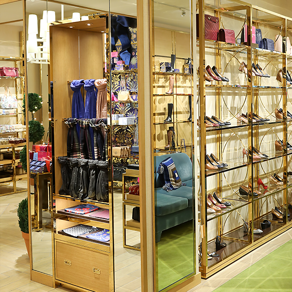 Tory Burch Store Installation - Custom Retail Furniture