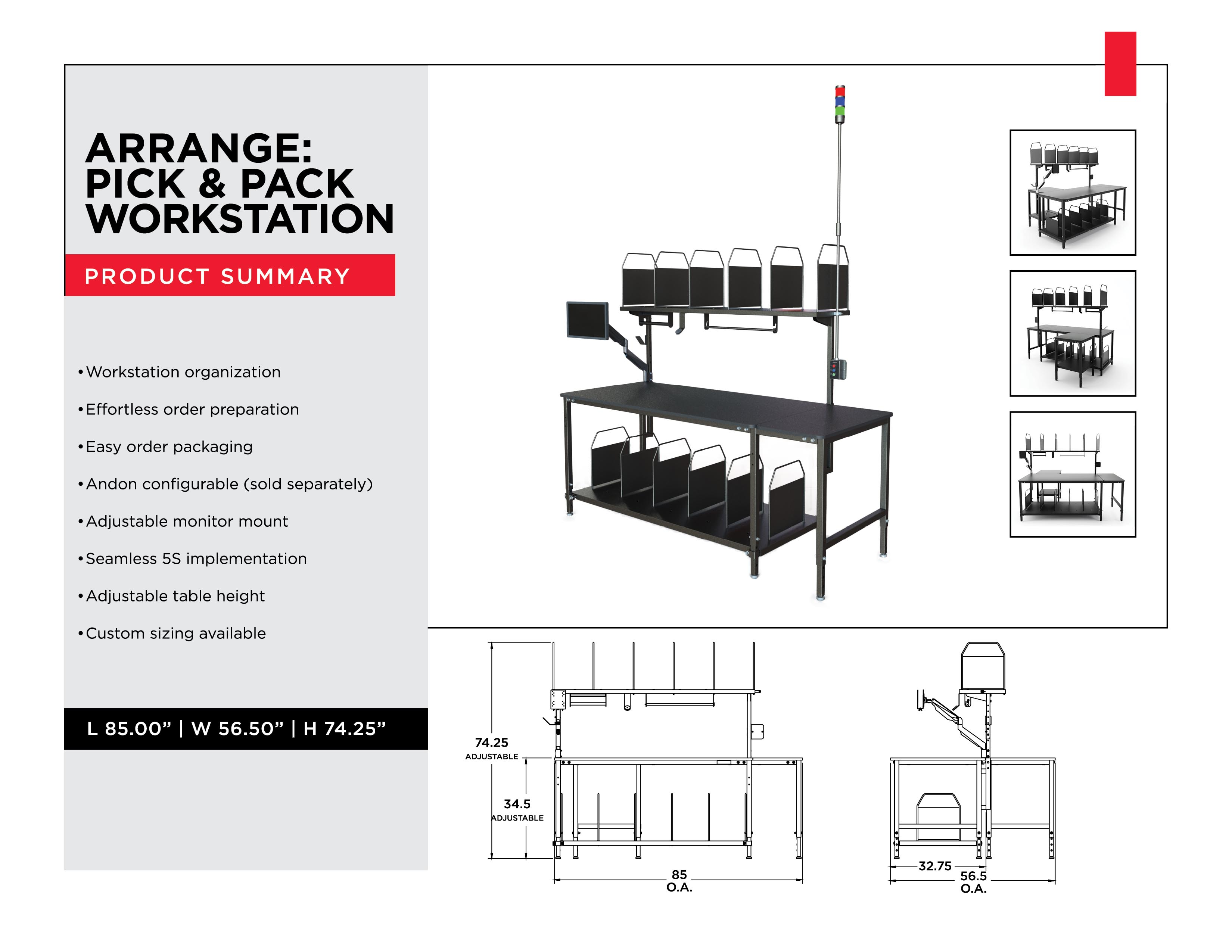 Shipping Workstation for Shipping and Handling