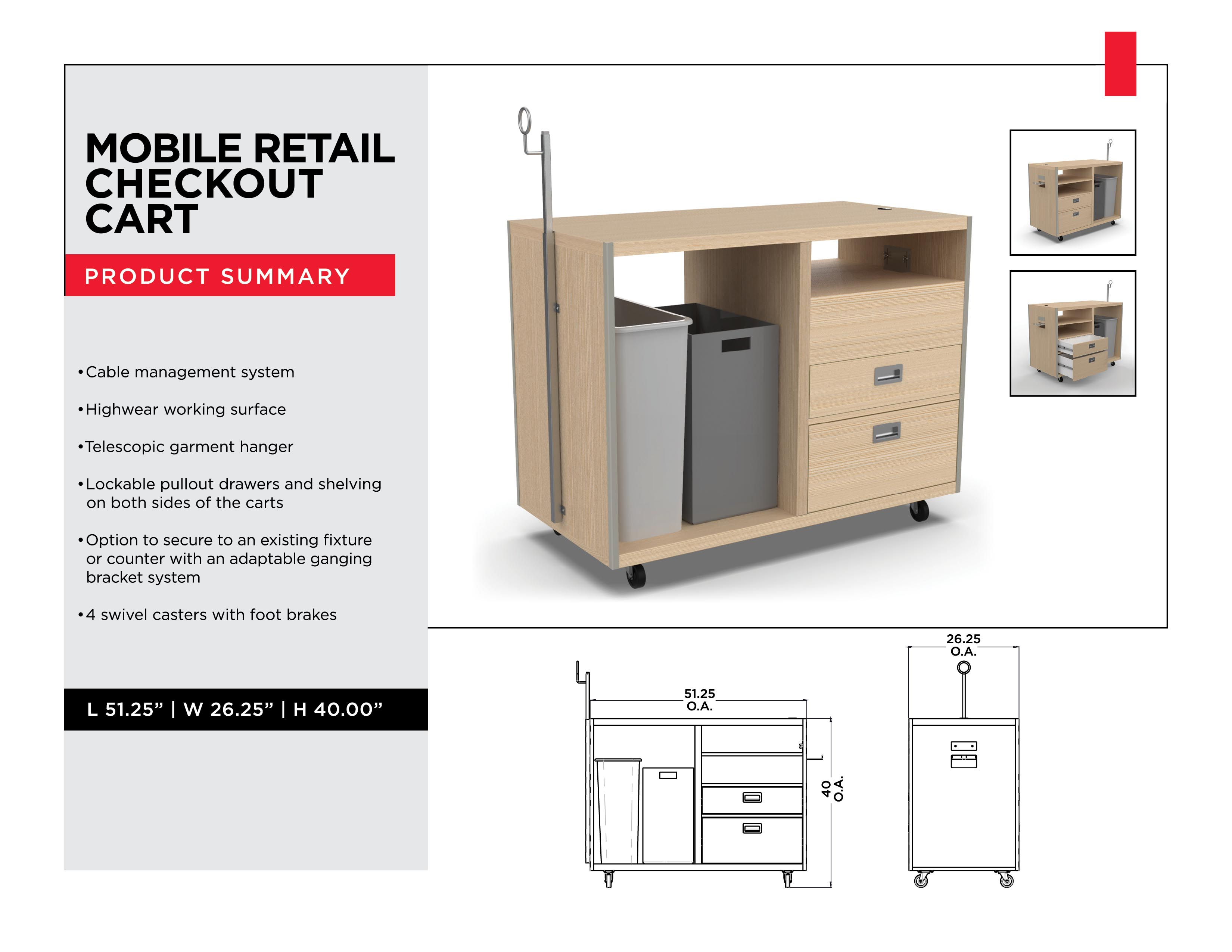 Retail Display Solutions: Mobile Retail Checkout Cart