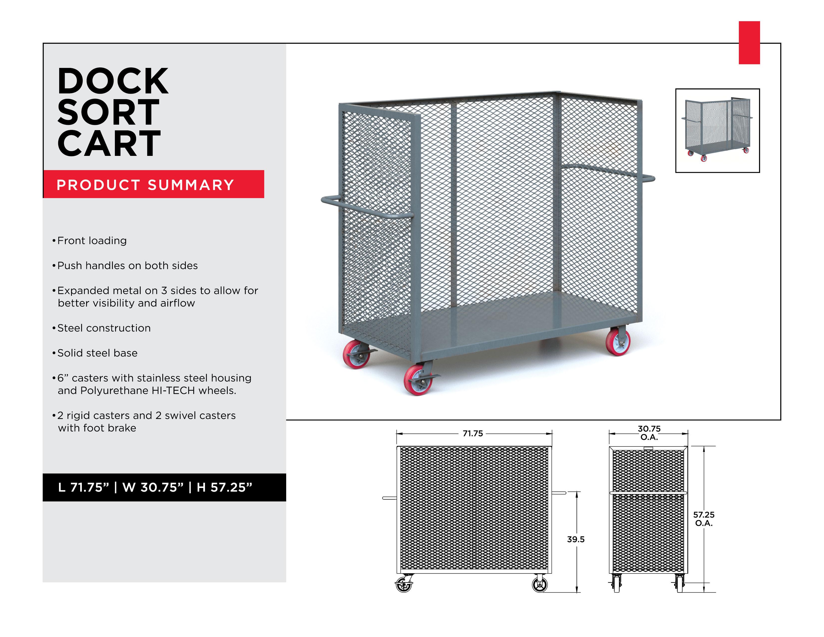 Industrial Sorting Carts: Dock Sorting Cart