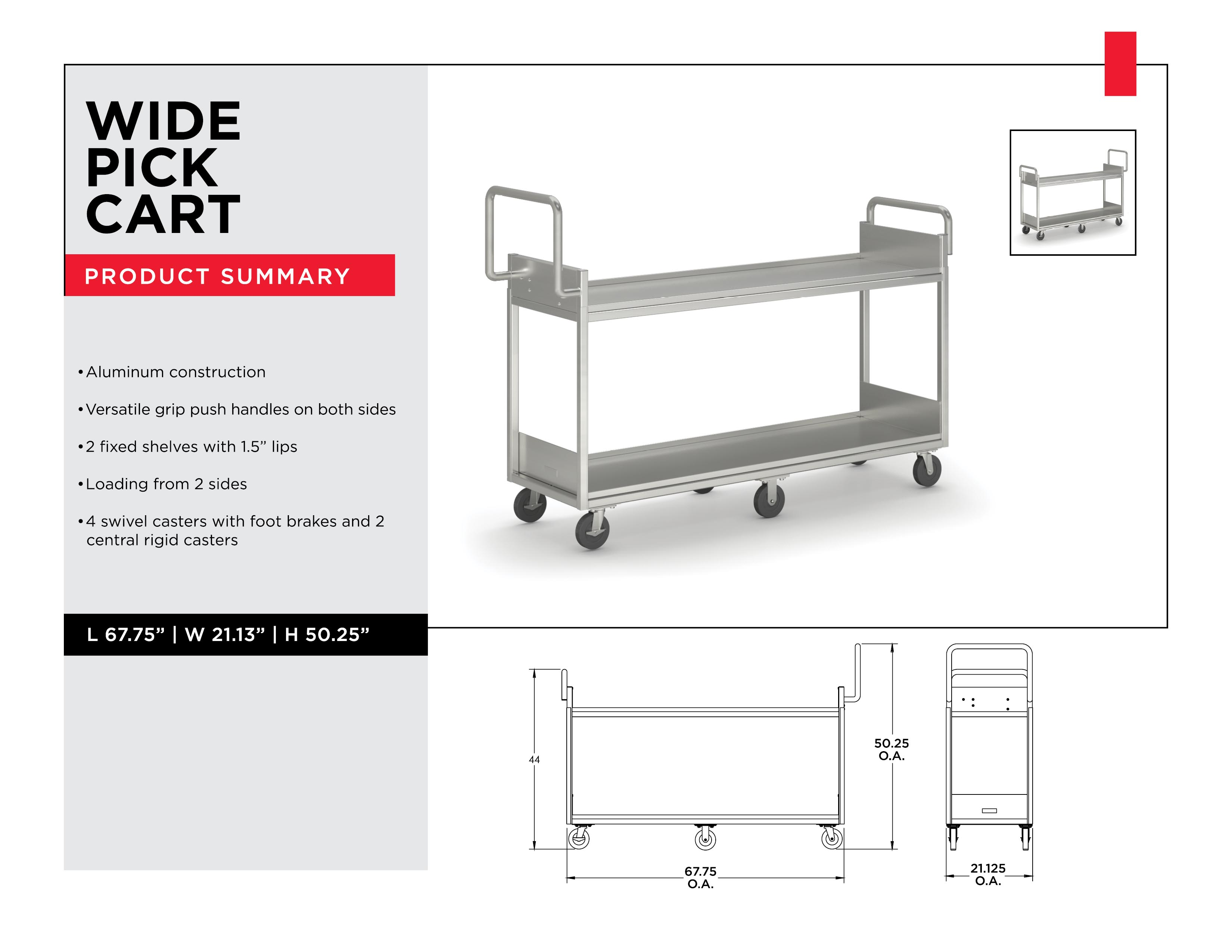 Retail Inventory Management: Wide Pick Cart
