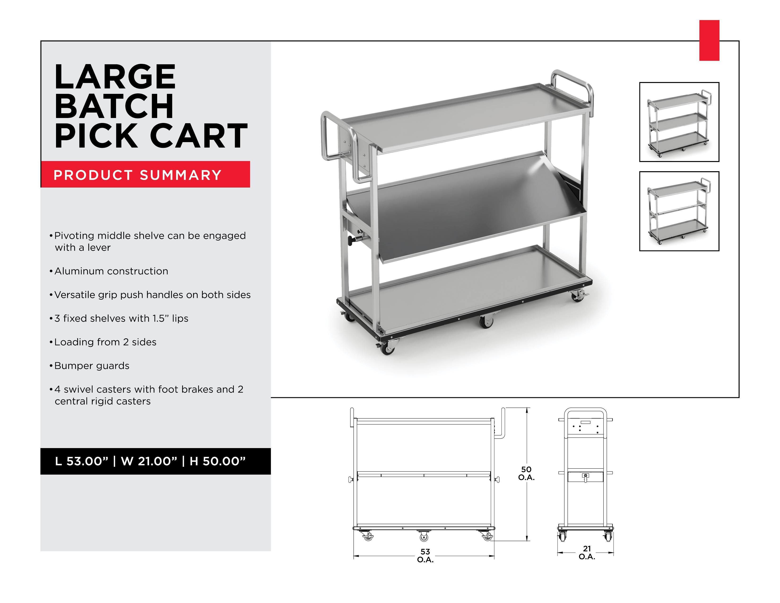Retail Inventory Management: Large Batch Pick Cart