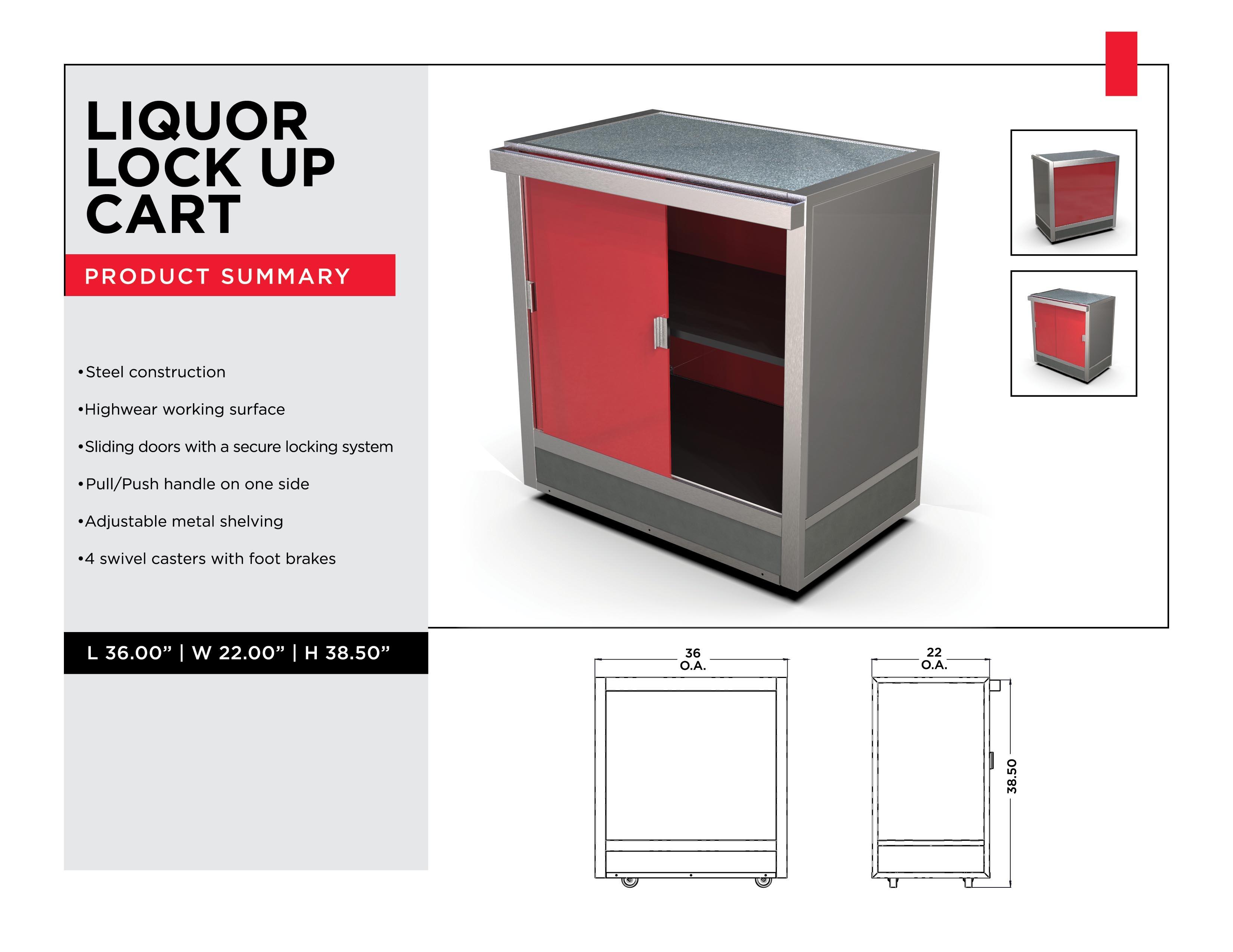 Retail Display Solutions: Liquor Lock Up Cart
