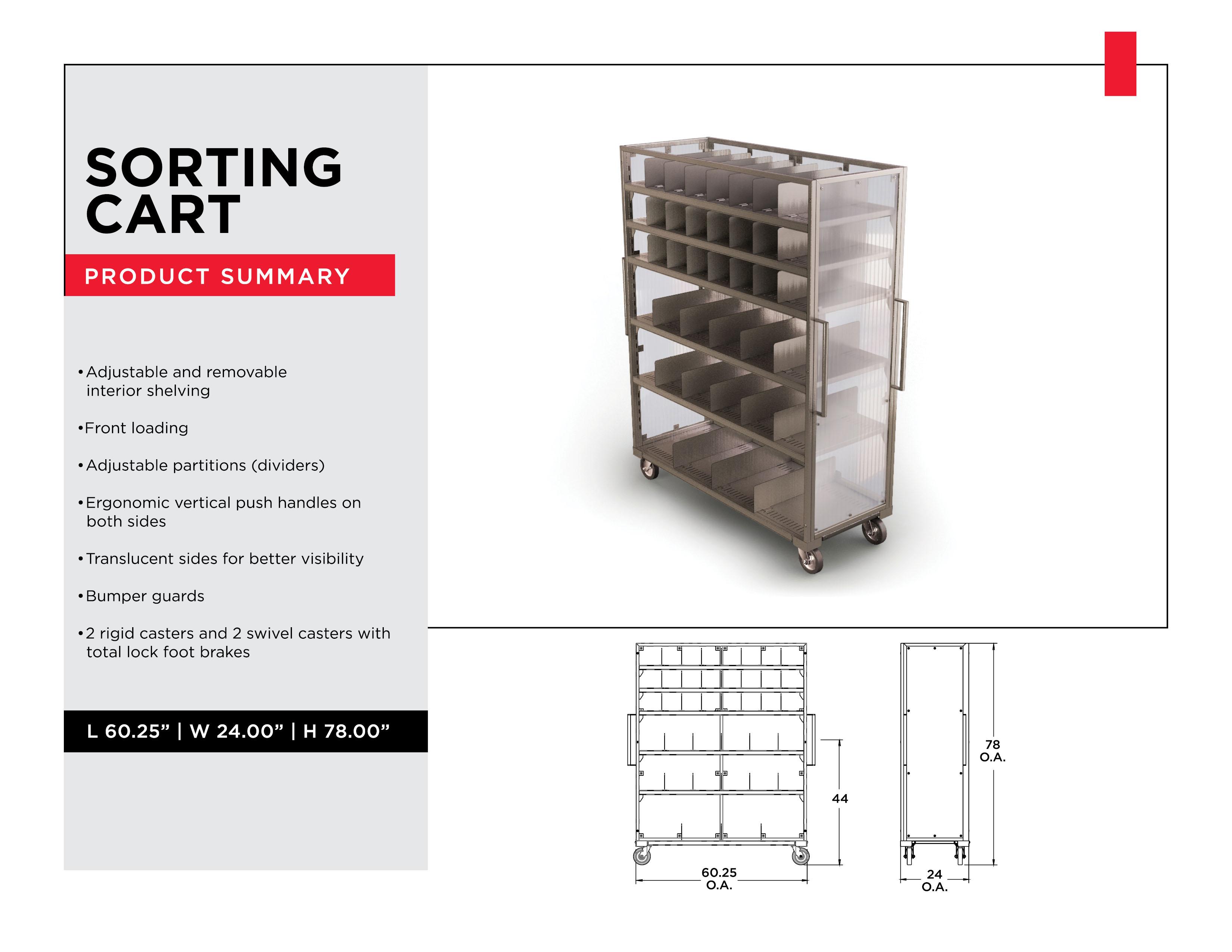 Industrial Sorting Carts: Sorting Cart