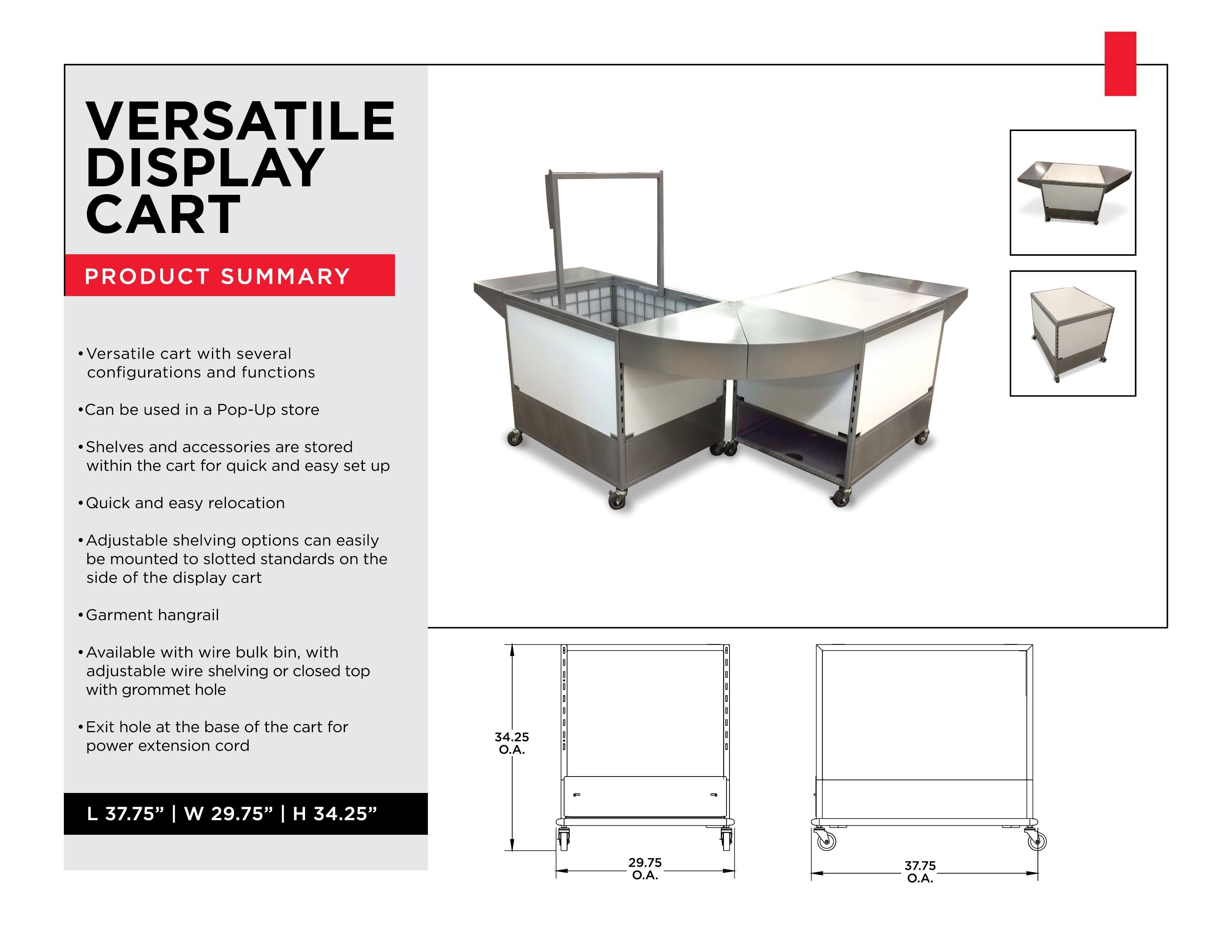 Retail Display Solutions: Versatile Display Cart