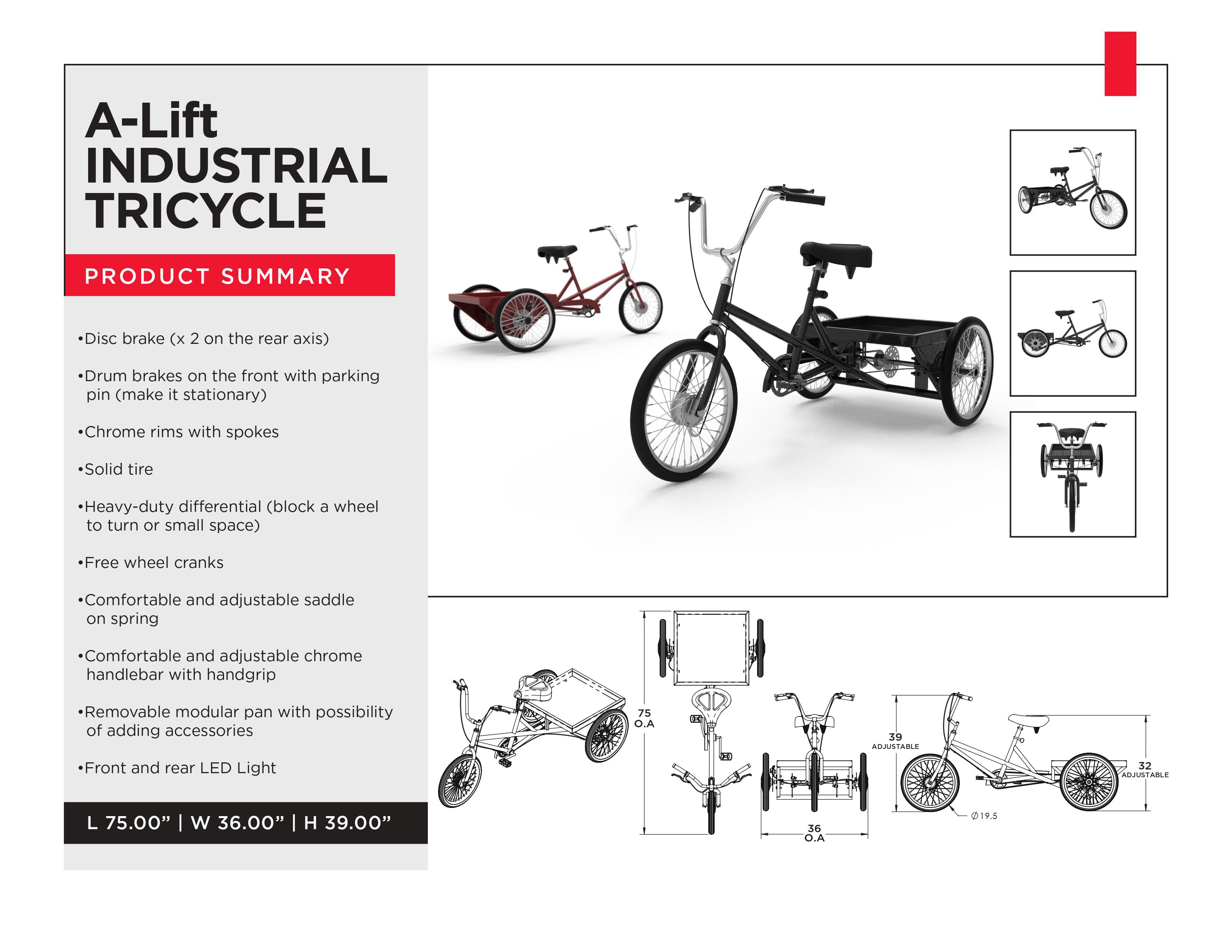 A-Lift Material Handling Tricycle for Warehouse