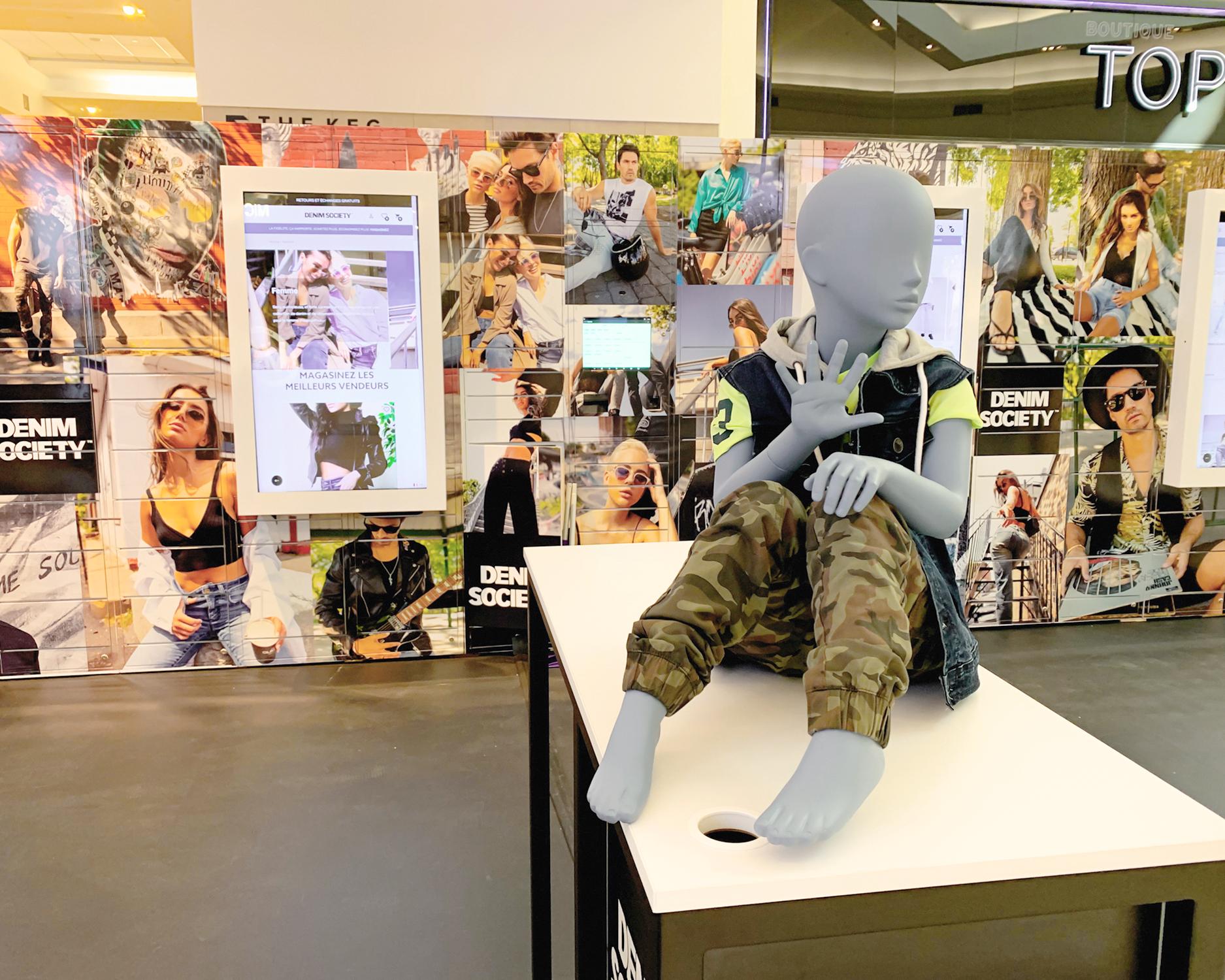 Denim Society Smart Lockers - Mannequin (central)
